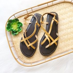 Montego Bay Club Yellow Strappy Sandals 9